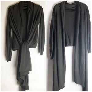 Moda International Cashmere Shawl Wrap Cardigan L